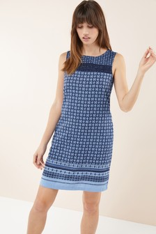 8cfaaee9409 Linen Blend Shift Dress