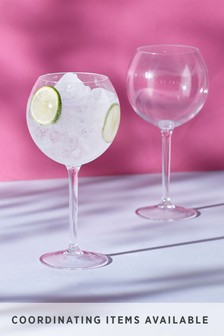 Set of 2 Plastic Gin Glasses