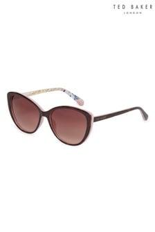 c0a67fd2b8 Ted Baker Pink Tortoiseshell Jazz Sunglasses