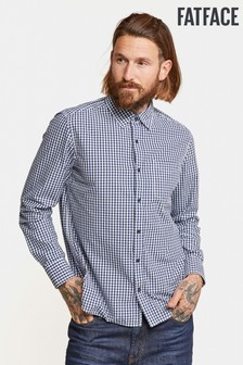 FatFace Blue Thompson Gingham Shirt