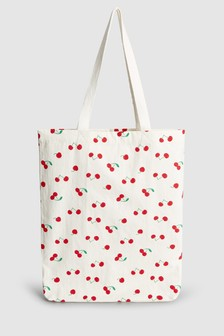 Cherry Print Shopper