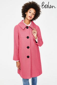 Boden Red Vintage Swing Coat