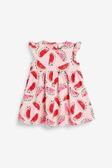 Jersey-Kleid mit Rüschenärmeln (0Monate bis 2Jahre)
