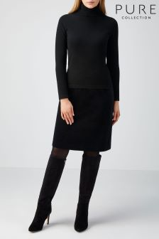 Pure Collection Black A-Line Skirt