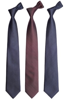 Textured And Spot Ties Three Pack