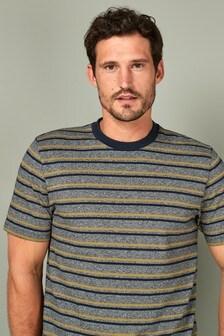 Fine Stripe Pique T-Shirt