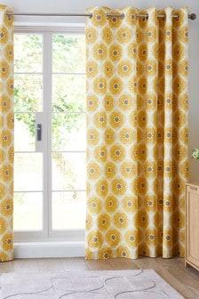 Retro Daisy Eyelet Curtains