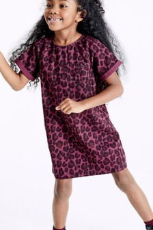 Animal Print Denim Dress (3-16yrs)
