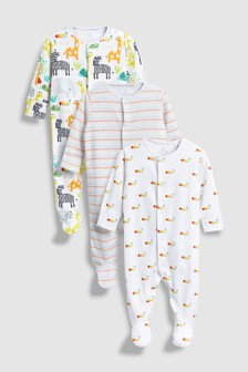 Clothes, Shoes & Accessories Set Of 2 Next Bunny Baby Grows Sleepsuits Girls First Size 0-3 High Quality