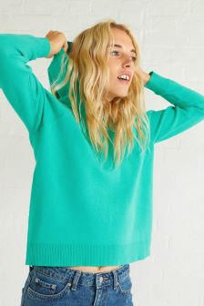 Oliver Bonas Green Symbol Knitted Hoody