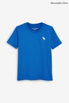 Abercrombie & Fitch Blue Basic Crew Neck T-Shirt