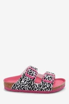 Birkenstock® Pink Zebra Arizona Sandals