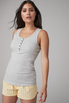 Cotton Rich Rib Vest Top