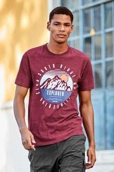 Мягкая футболка с графическим принтом