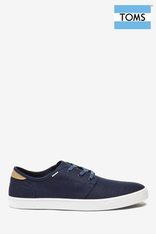 TOMS Navy Carlo Lace-Up Shoes