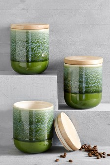 Set of 3 Reactive Storage Jars