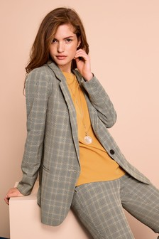 Relaxed Button Blazer