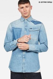 Camisa de corte slim y manga larga en azul claro 3301 de G-Star