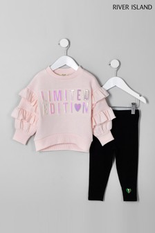 River Island Limited Edition Sweat With Black Legging Set