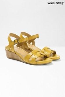 White Stuff Yellow Clarissa Wedge Sandals