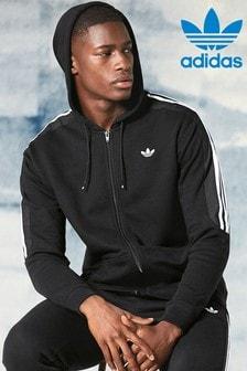 Sweat à capuche zippé adidas Originals Radkin noir