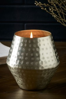 Sweet Almond & Vanilla Ceramic Metal Candle