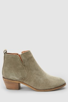 Side Cut Western Ankle Boots