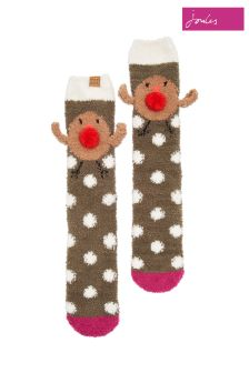 Joules Robin Character Fluffy Socks