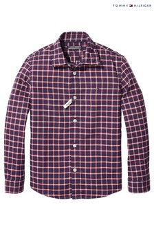 Tommy Hilfiger Red Oxford Check Shirt