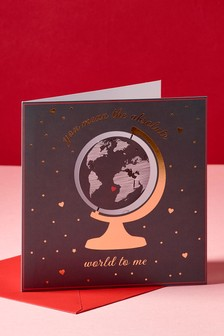 Tarjeta del mundo de Valentines