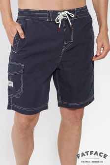 FatFace Navy Reef Plain Deck Short