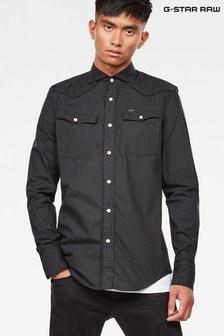G-Star Black 3301 Parade Slim Long Sleeve Shirt