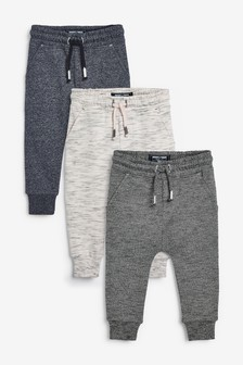3 Pack Textured Joggers (3mths-7yrs)