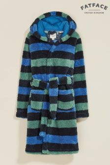 FatFace Blue Stripe Robe
