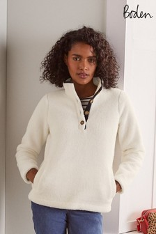Boden White Martha Teddy Jumper