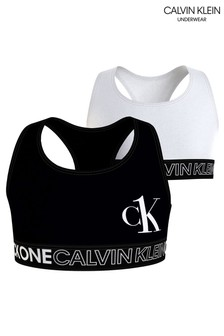 Calvin Klein White CK One 2 Pack Bralettes