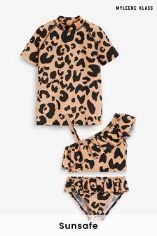 Myleene Klass Kids Bikini and Sunsafe Top Set