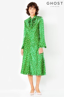 Ghost London Green Printed Ayla Dress