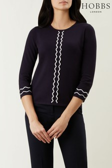 Hobbs Navy Danielle Sweater
