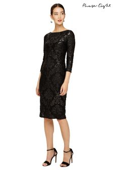 Phase Eight Black Petra Burnout Dress