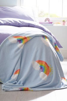 Printed Rainbow Throw