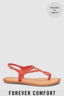 Plaited Toe Thong Sandals
