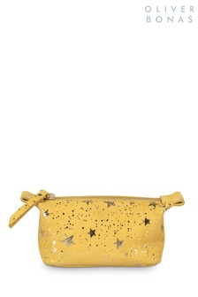 Oliver Bonas Yellow Zoya Mini Makeup Bag