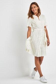 Платье-рубашка с узором в виде сердечек