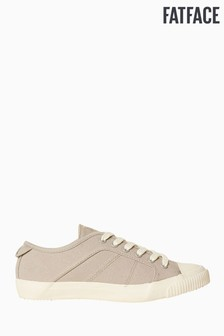 FatFace Grey Organic Lace-Up Trainer