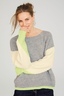Neon Ribbed Sweater