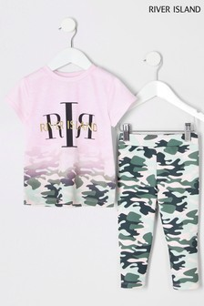 Ensemble River Island camouflage rose