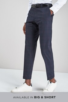 Check Skinny Fit Trousers