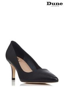 Dune London Andina Unlined Comfort Point Mid Heel Court Shoes