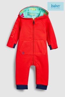 בגד גוף עם כיתוב של Baker by Ted Baker בצבע אדום